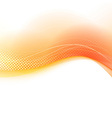 Bright orange transparent swoosh background vector image vector image