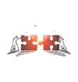 business collaboration cooperation concept sketch vector image vector image
