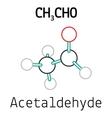 CH3CHO acetaldehyde molecule vector image vector image