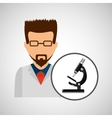 character scientist chemistry micrsocope element vector image vector image