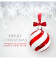 christmas and new year background with christmas vector image