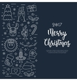 Christmas isolated concept flyer card with
