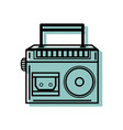 color radio equipment to listen music with vector image vector image