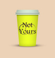 colorful coffee cup to go with text vector image vector image