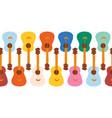 colorful guitars seamless horizontal vector image