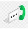 Consultation by phone isometric icon vector image