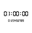 countdown timer with digital numbers vector image