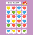 counting game for preschool children the study of vector image vector image