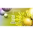 creative invitation card celebrating 2020 vector image vector image