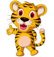 cute baby tiger posing vector image vector image
