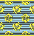 cute summery hand drawn yellow daisies on a vector image