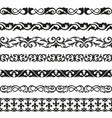 decorative seamless borders vintage design vector image