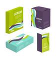 design template of package identity of food vector image