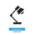 desk lamp icon simple sign for web site and vector image
