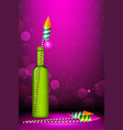 Diwali Firecracker vector image vector image