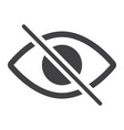 do not spy glyph icon web and mobile not visible vector image vector image