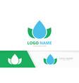 eco water drop logo combination unique vector image
