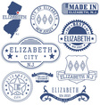 Elizabeth city New Jersey stamps and seals vector image vector image