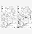 exercise class maze vector image vector image