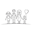 Family 2 vector image vector image