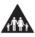 family black icon vector image vector image
