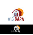 farm barn isolated on white background object in vector image
