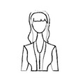 figure cute woman with hairstyle and elegant vector image
