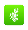 funny turtle icon simple style vector image vector image