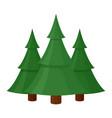 green christmas winter tree icon seasonal vector image