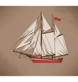 Hand drawn ship vector image