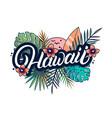 hawaii hand written lettering vector image vector image