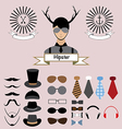 Hipster Character Elements Design vector image