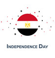 independence day of egypt patriotic banner vector image vector image