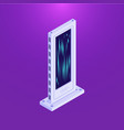 isometric flat database server tower vector image vector image
