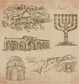 Israel - An hand drawn collection pack vector image