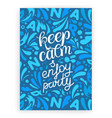keep calm and enjoy party party invitation card vector image