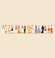 large collection of national costumes 2 vector image vector image