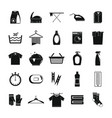laundry service icons set simple style vector image vector image