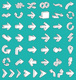 Line 3D Arrows Icon Set vector image vector image