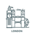 london line icon linear concept outline vector image vector image
