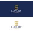luxury logo e modern style vector image vector image