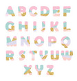 modern abstract font with glitter creative abc vector image