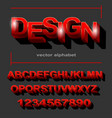 modern red font design for typography on grey vector image vector image
