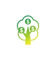 money tree icon on white art vector image