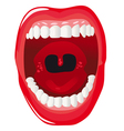 mouth vector image vector image
