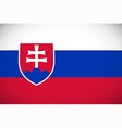 National flag of Slovakia vector image vector image
