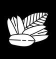 pistachios dark mode glyph icon vector image vector image