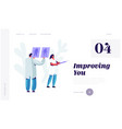 plastic surgery doctor in white robe learning vector image vector image