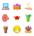 professional trickster icons set cartoon style vector image vector image