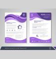 purple business brochure vector image vector image